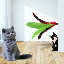 5pcs Replacement Colorful Feathers for Pet Cat Interactive Toy U1G3