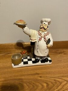 YANKEE CANDLE ITALIAN SPAGHETTI CHEF DELIVERING AN ORDER CANDLE HOLDER