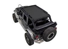 2007-2017 Jeep Wrangler Unlimited SpiderWebShade TrailMesh Bikini Top Black