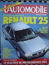 revue L'AUTOMOBILE 1983 MERCEDES 280 SE / BMW 728i / AUDI 200 TURBO / TAMBAY