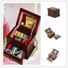 Vintage aiguille à coudre aiguille Kit Box 1:12 Dollhouse Miniature Mini DecoLTA