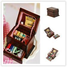 Vintage Sewing Needlework Needle Kit Box 1:12 Dollhouse Miniature Mini DecoBlij