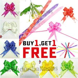 50 Pull Bows 30mm Wedding Car Gift Wrap Ribbon Decorations Florist WATERPROOF