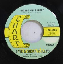 Country Nm! 45 Dave & Susan Phillips - Acres Of Paper / Alice, Where Art Thou On