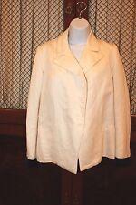 LANVIN Women's Ivory Off White Cotton & Linen BLAZER Jacket  Size 36 EUR