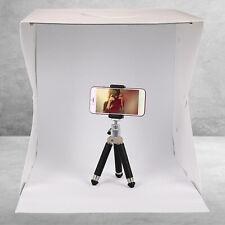 LED Light Box Photo Studio Photography Shooting Tent Kit & 2 Backdrops