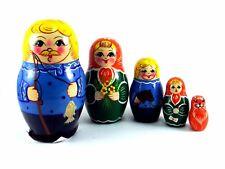 Nesting Dolls Russian Matryoshka Traditional Babushka Stacking Wooden set 5 pcs