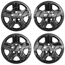 "16"" Black Wheel Skins Hubcaps FOR 2007 - 2013 2014 2015 2016 2017 Jeep Wrangler"