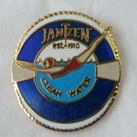 Jantzen Swimwear 1992 Clean Water Campaign Lapel Hat Pin Swimming Diving Pool