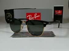 Brand New Ray ban Clubmaster Sunglasses RB3016 51mm Black/Green Lenses AUTHENTIC