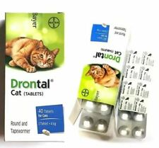DRONTAL CAT DEWORMER ROUND AND TAPEWORMER for Cat Lovers (12 Tablet )