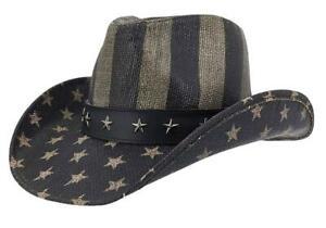 Kenny K Western Cowboy Hat USA Flag Stars & Stripes ST10 More Styles Toyo Straw