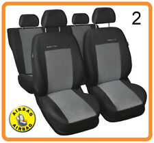 Car seat covers full set fit Nissan Micra - charcoal grey