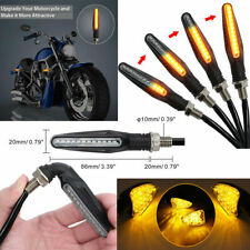 4PCS 12 LED Mini Motorcycle Motorbike Turn Signal Lights Indicators Amber Lamp