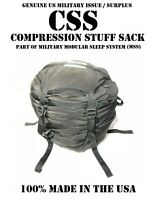 9-STRAP BLACK COMPRESSION STUFF SACK CSS US MILITARY MSS SLEEPING BAG CAMPING