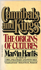 """MARVIN HARRIS - """"CANNIBALS AND KINGS: THE ORIGINS OF CULTURES"""" - VINTAGE (1978)"""