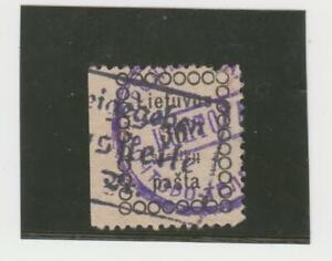 LITAUEN.1918 AUSGABE von WILNIUS II MI.NR.6.ABART-3 SEITIG GEZÄHNT