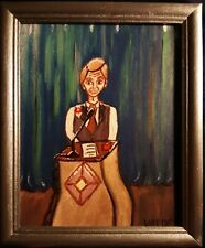DMVAG  Canvas Prints of oil painting The Speaker 8x10 signed in wood frame