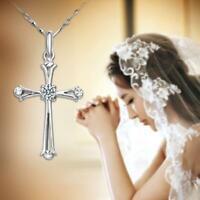 Bijoux de luxe Bible Saint Jésus Croix Pendentif Choker Chaîne Femmes Collier
