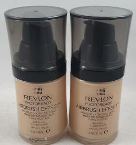 2 x Revlon Photoready Airbrush Effect Make Up SPF20 30ml 003 Shell