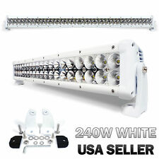 "240W 42"" White LED Light Bar Spot Beam Flood Light Adjustable (USA SELLER)"