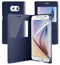 Funda para Samsung Galaxy S6 EDGE Magnético Cartera De Cuero Plegable