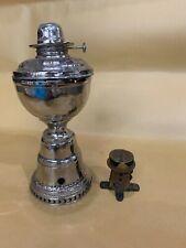 THE IMPROVED HITCHCOCK LAMP ANITQUE PAT 1895 GAS KEROSENE OIL W KEY MECHANICAL