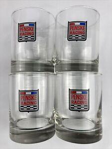 Vintage (4) Penske Racing Indy 500 Indy Car Champion Drinking Glasses 1988