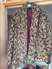 gorgeous Leopard  river island parka fur leather jacket coat size 6/8