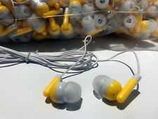 Bulk Wholesale Lot of 25 - YELLOW/WHITE - 3.5mm In-Ear Earbuds / Earphones