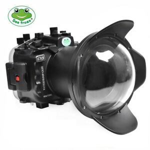 "Seafrogs 40m/130ft Underwater Camera Housing with 6"" Dome Port for Sony A7R IV"
