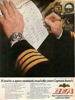 1971 Original Advertising' Vintage Bea Airways Airlines British Captain Boarding