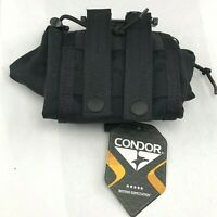 Condor Roll-up Dump Pouch (MA36-002), Black, New With Tags!