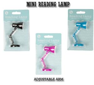 LED MINI READING LAMP CLIP ON Flexible  Desk Bed Read Table Study Light Gift UK