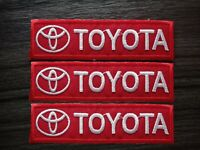 3 pcs TOYOTA MOTOR Racing Car Patch Embroidered Iron or Sew on Coat Jacket bag