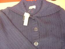 Women's ST. JOHN'S BAY Blue/Violet Button Sweater Size 2X NWT