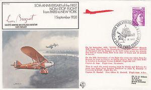 (04367) France Cover RAF FF22 1st Flight Paris New York +50yrs 1980