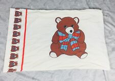 Vintage Cannon Royal Family Brown Teddy Bear Bed Pillow Sham Retro