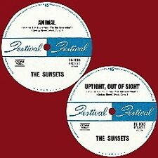 Sunsets ORIG OZ 45 Animal/ Uptight out of sight M 2014 Blank Garage Punk Surf