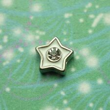 Star White & Crystal Jewel For Locket
