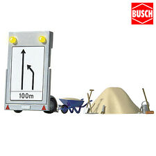 Busch 5930 Baustellen-anhänger mit Schaltung Spur H0