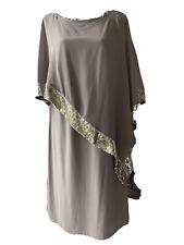 Midnight Velvet Sz 18w Gray Dress With Sequins
