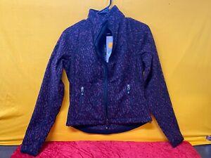 🔥Harley-Davidson Women's Animal Print Windproof Fleece Jacket, Plum Small
