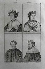 ITALIA= DANTE-.BOCCACCIO-MACCHIAVELLI-ARIOSTO = LAMAITRE.LAZIO.Artaud.1835.