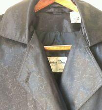 Vtg RARE Christian Dior Slick Intricate Design Trench Coat Long Jacket Sz 6