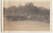 Unidentified WW1 Group of Soldiers On Sports Field Group Portrait RP PPC