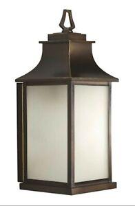 Progress Lighting P5453-108 Salute 1 Light Outdoor Lantern Bronze