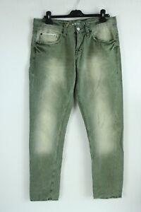 MUSTANG BNWT Bleached Green Slim Fit Low Rise slim Leg Men Denim Jeans W33 L34