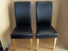 2er-Set Stühle in Lederoptik- Holzgestell Massivholzfüße Gutmann Factory