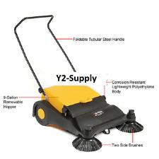 New Industrial Push Sweeper 9 Gallon Hopper